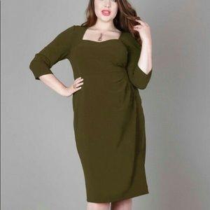 Anna Scholz Crepe Tailoring Corset Dress